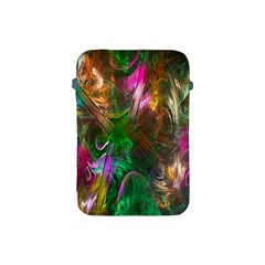 Fractal Texture Abstract Messy Light Color Swirl Bright Apple Ipad Mini Protective Soft Cases by Simbadda