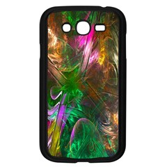 Fractal Texture Abstract Messy Light Color Swirl Bright Samsung Galaxy Grand Duos I9082 Case (black)