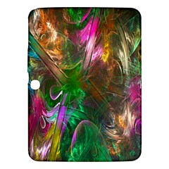 Fractal Texture Abstract Messy Light Color Swirl Bright Samsung Galaxy Tab 3 (10 1 ) P5200 Hardshell Case  by Simbadda