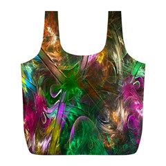 Fractal Texture Abstract Messy Light Color Swirl Bright Full Print Recycle Bags (l)  by Simbadda