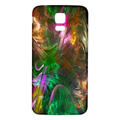 Fractal Texture Abstract Messy Light Color Swirl Bright Samsung Galaxy S5 Back Case (white) by Simbadda