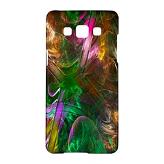 Fractal Texture Abstract Messy Light Color Swirl Bright Samsung Galaxy A5 Hardshell Case  by Simbadda