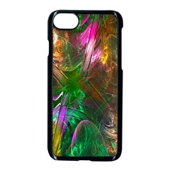 Fractal Texture Abstract Messy Light Color Swirl Bright Apple Iphone 7 Seamless Case (black) by Simbadda