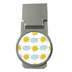 Sunshine Tech White Money Clips (round)  by Simbadda