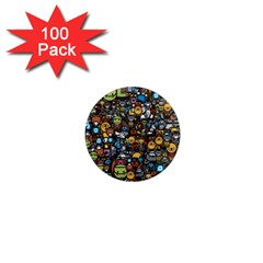 Many Funny Animals 1  Mini Magnets (100 Pack)