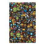 Many Funny Animals Shower Curtain 48  x 72  (Small)  42.18 x64.8 Curtain