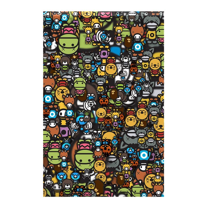 Many Funny Animals Shower Curtain 48  x 72  (Small)