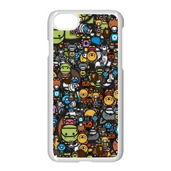 Many Funny Animals Apple Iphone 7 Seamless Case (white)