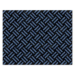 Woven2 Black Marble & Blue Denim Jigsaw Puzzle (rectangular) by trendistuff