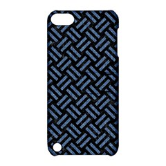 Woven2 Black Marble & Blue Denim Apple Ipod Touch 5 Hardshell Case With Stand