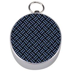 Woven2 Black Marble & Blue Denim Silver Compass