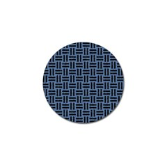 Woven1 Black Marble & Blue Denim (r) Golf Ball Marker (4 Pack) by trendistuff