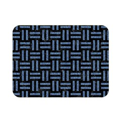 Woven1 Black Marble & Blue Denim Double Sided Flano Blanket (mini) by trendistuff