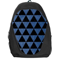 Triangle3 Black Marble & Blue Denim Backpack Bag by trendistuff