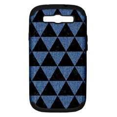 Triangle3 Black Marble & Blue Denim Samsung Galaxy S Iii Hardshell Case (pc+silicone) by trendistuff