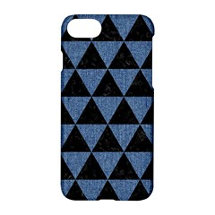 Triangle3 Black Marble & Blue Denim Apple Iphone 7 Hardshell Case by trendistuff