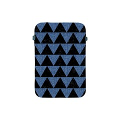 Triangle2 Black Marble & Blue Denim Apple Ipad Mini Protective Soft Case by trendistuff