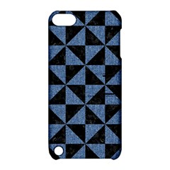 Triangle1 Black Marble & Blue Denim Apple Ipod Touch 5 Hardshell Case With Stand by trendistuff