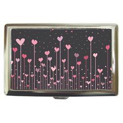 Pink Hearts On Black Background Cigarette Money Cases by TastefulDesigns
