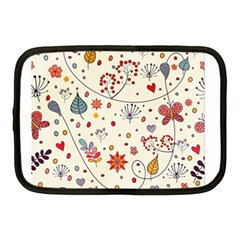 Spring Floral Pattern With Butterflies Netbook Case (medium)