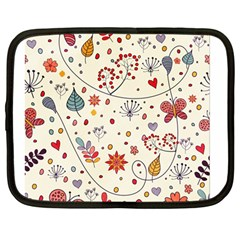 Spring Floral Pattern With Butterflies Netbook Case (large)