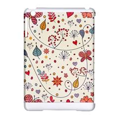 Spring Floral Pattern With Butterflies Apple Ipad Mini Hardshell Case (compatible With Smart Cover)