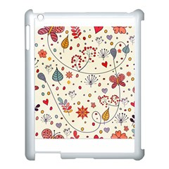 Spring Floral Pattern With Butterflies Apple Ipad 3/4 Case (white)