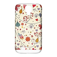 Spring Floral Pattern With Butterflies Samsung Galaxy S4 Classic Hardshell Case (pc+silicone)