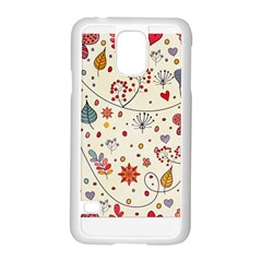 Spring Floral Pattern With Butterflies Samsung Galaxy S5 Case (white)