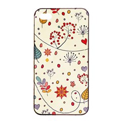 Spring Floral Pattern With Butterflies Apple Iphone 4/4s Seamless Case (black)