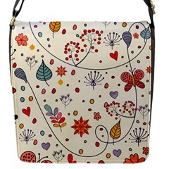 Spring Floral Pattern With Butterflies Flap Messenger Bag (s) by TastefulDesigns
