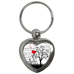 Love Song Key Chains (heart)  by Valentinaart
