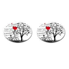 Love Song Cufflinks (oval) by Valentinaart