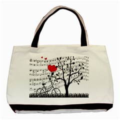 Love Song Basic Tote Bag by Valentinaart