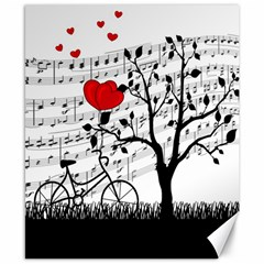Love Song Canvas 8  X 10  by Valentinaart