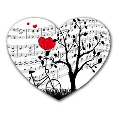 Love Song Heart Mousepads by Valentinaart