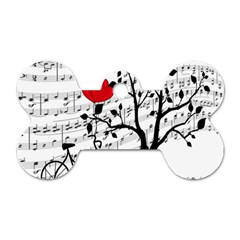 Love Song Dog Tag Bone (one Side) by Valentinaart