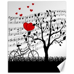 Love Song Canvas 11  X 14   by Valentinaart