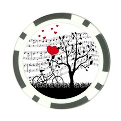 Love Song Poker Chip Card Guard by Valentinaart