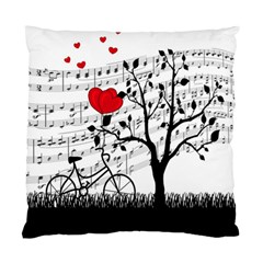 Love Song Standard Cushion Case (two Sides) by Valentinaart