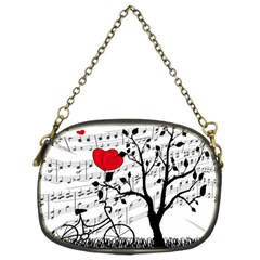 Love Song Chain Purses (two Sides)  by Valentinaart