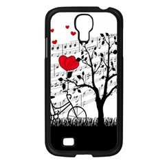Love Song Samsung Galaxy S4 I9500/ I9505 Case (black) by Valentinaart