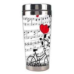 Love Song Stainless Steel Travel Tumblers by Valentinaart