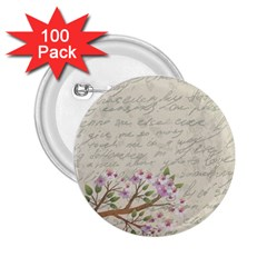 Cherry Blossom 2 25  Buttons (100 Pack)  by Valentinaart