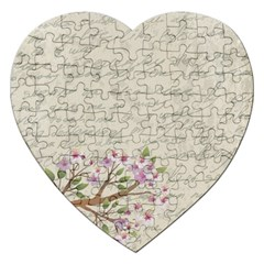 Cherry Blossom Jigsaw Puzzle (heart)