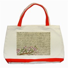 Cherry Blossom Classic Tote Bag (red) by Valentinaart