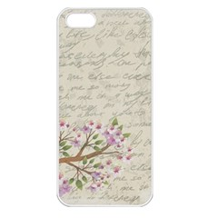 Cherry Blossom Apple Iphone 5 Seamless Case (white) by Valentinaart