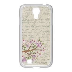 Cherry Blossom Samsung Galaxy S4 I9500/ I9505 Case (white) by Valentinaart