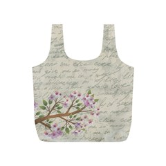 Cherry Blossom Full Print Recycle Bags (s)  by Valentinaart
