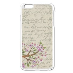 Cherry Blossom Apple Iphone 6 Plus/6s Plus Enamel White Case by Valentinaart